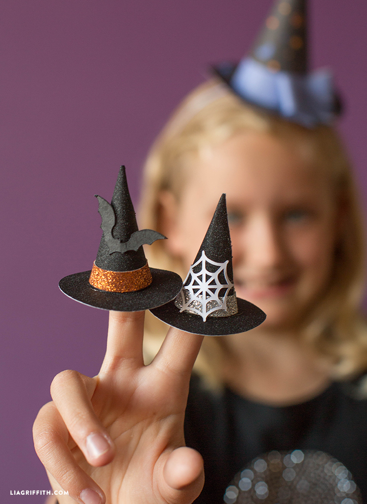 diy witch hat cupcake toppers