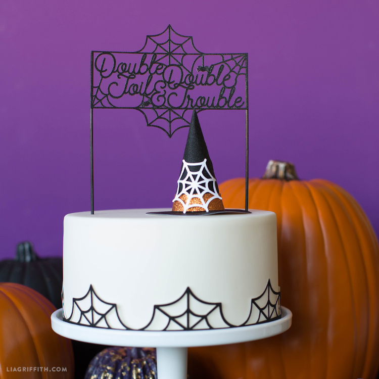 diy witch cake topper
