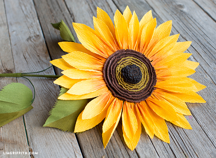 diy paper sunflower