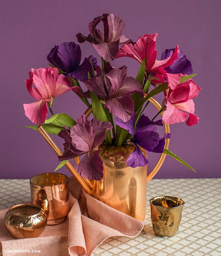crepe paper iris flower