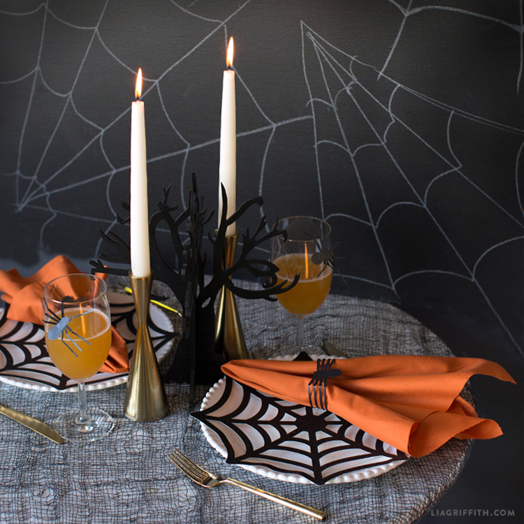 papercut halloween table settings