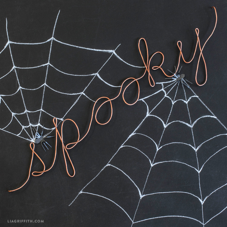 spooky wire wall decor