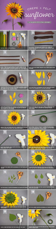 Jumbo crepe paper sunflower lia griffith diy paper sunflower save izmirmasajfo