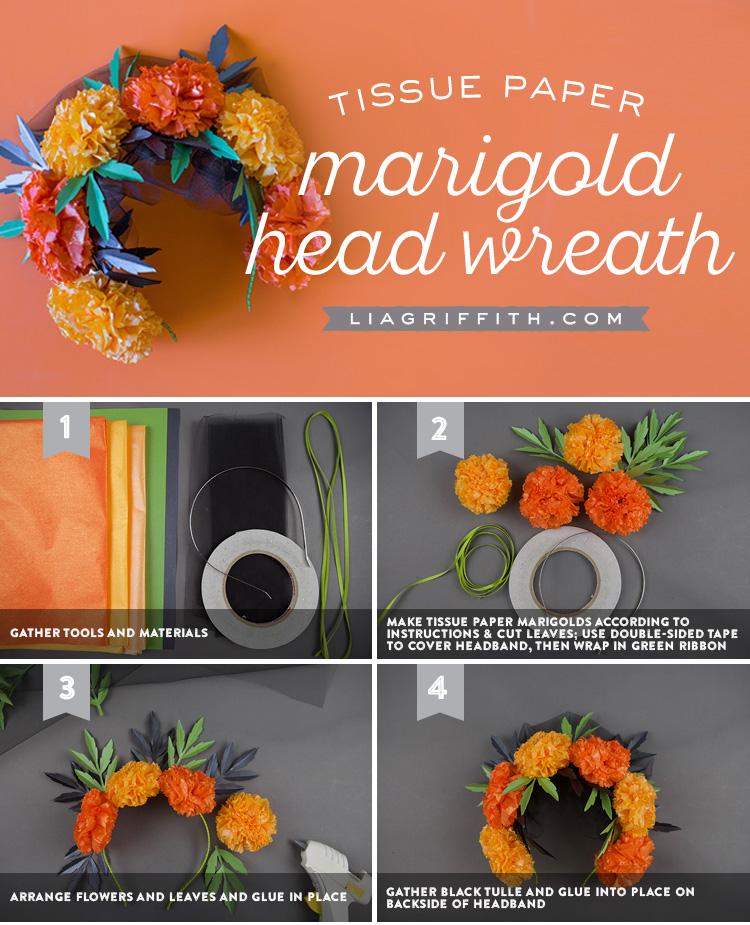 Marigold Flower Crown Lia Griffith