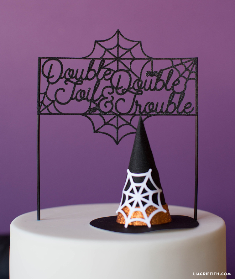 diy halloween cake topper