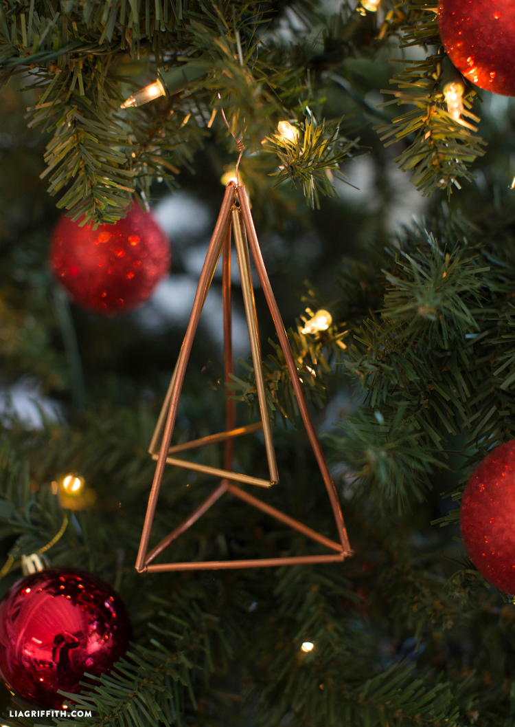 copper christmas ornament