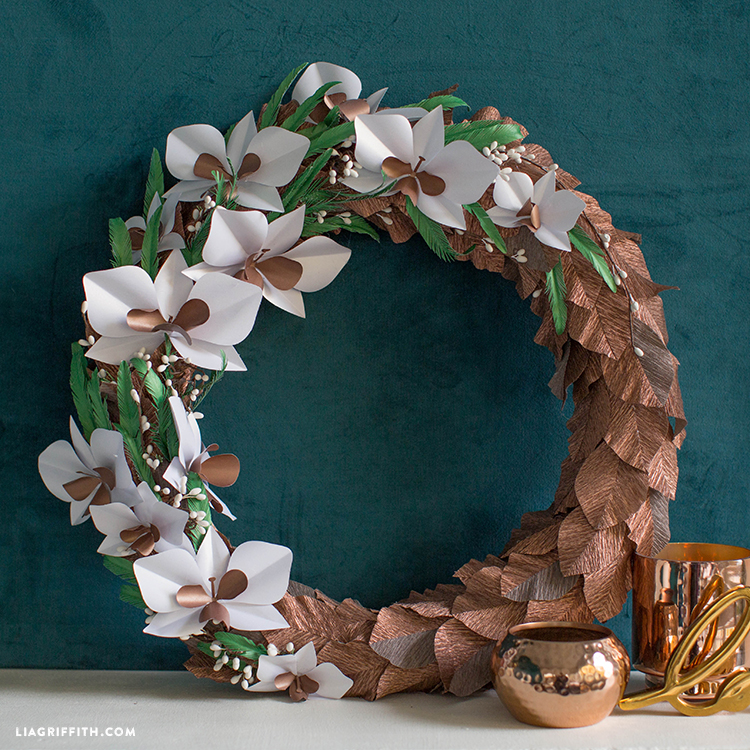 diy crepe paper wreath