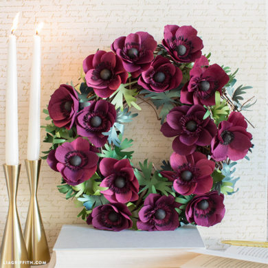 Video Tutorial: Crepe Paper Anemone Wreath