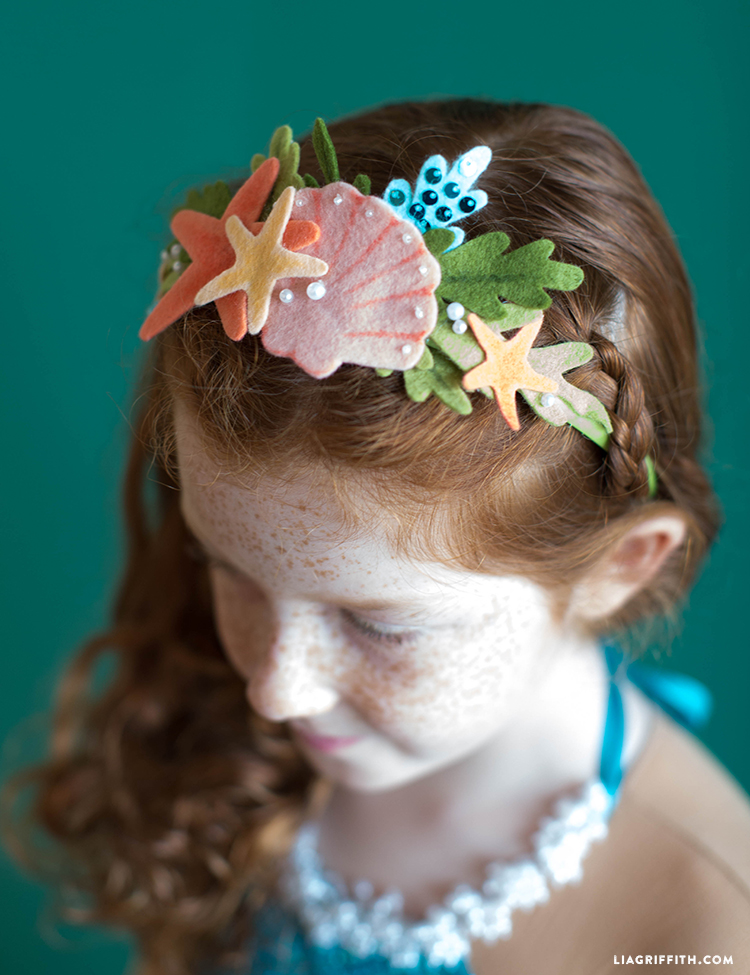 no-sew mermaid crown
