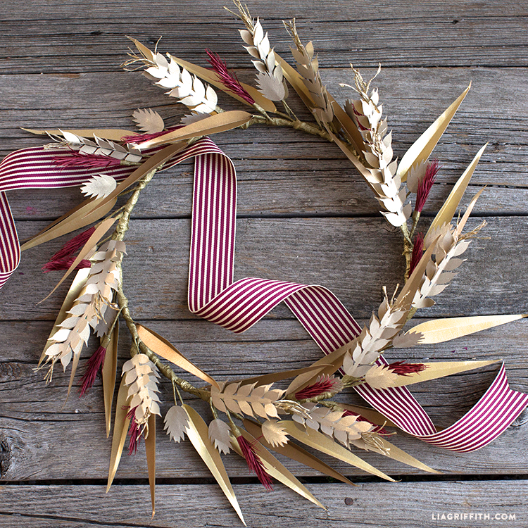 diy paper fall wreath