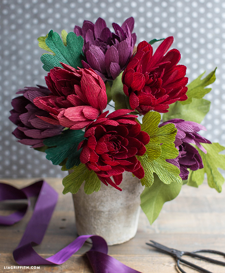 crepe paper flowers for fall