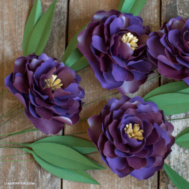 Video Tutorial: Frosted Paper Peony Flower