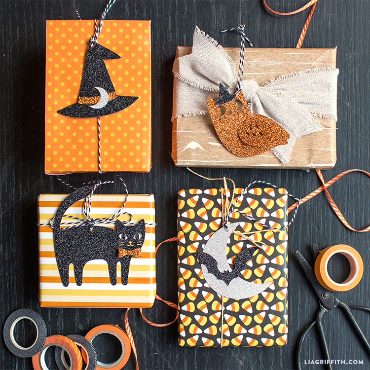 diy halloween gift tags
