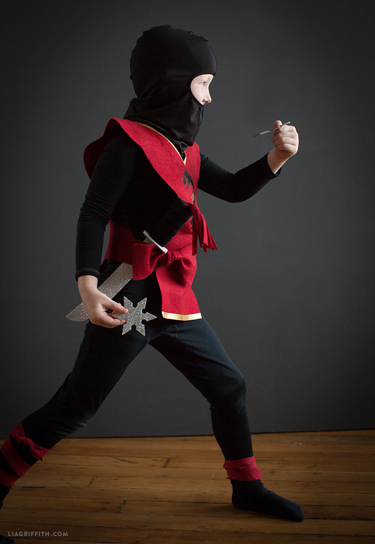 diy kids ninja costume