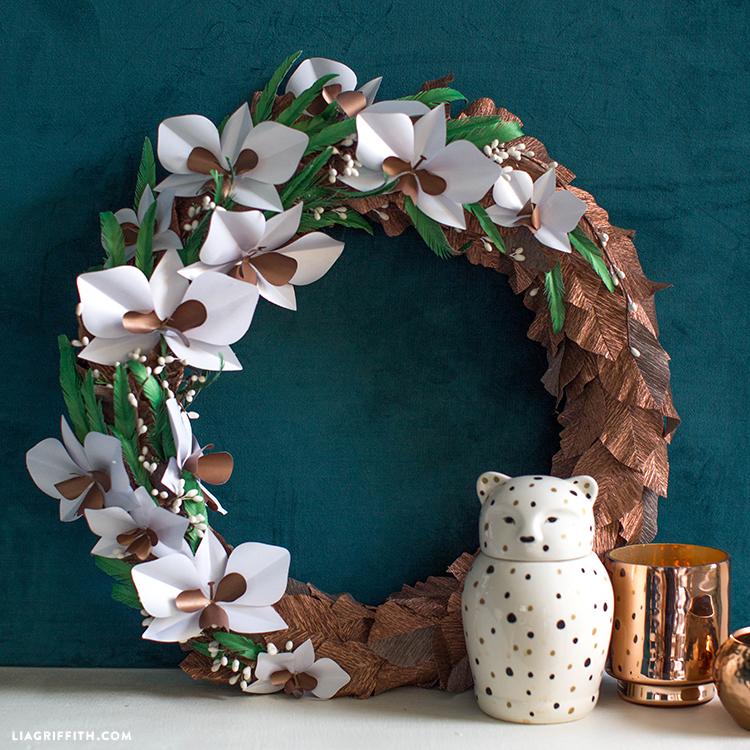 diy paper orchid wreath