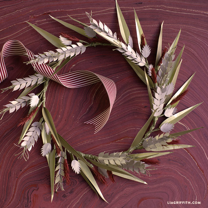 Paper Wheat Fall Wreath