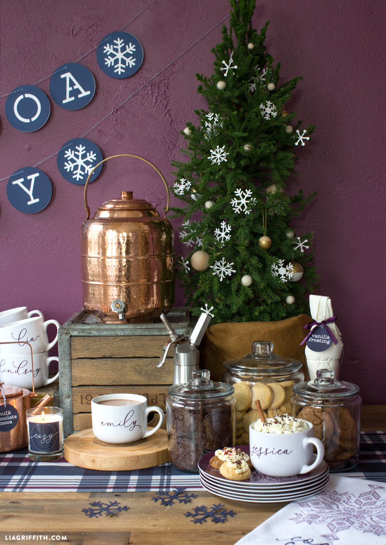 diy cookie and hot chocolate bar