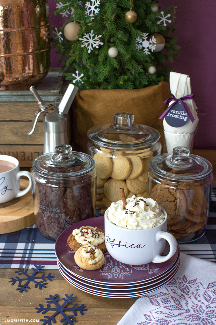 diy hot cocoa and cookie party