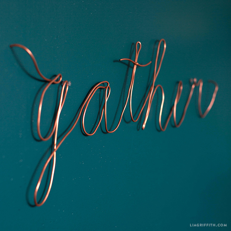 gather copper wire decor