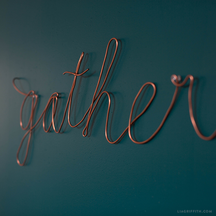 copper wire wall decor