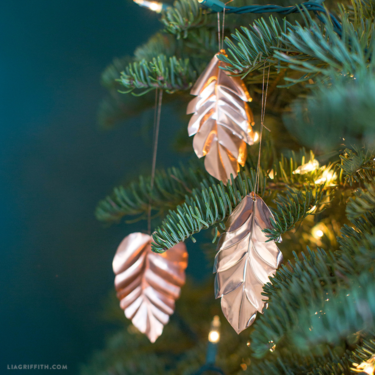 copper christmas ornaments