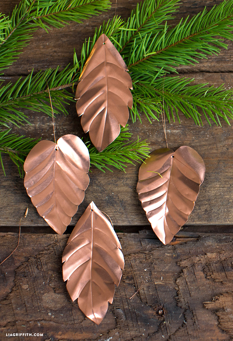diy copper leaves