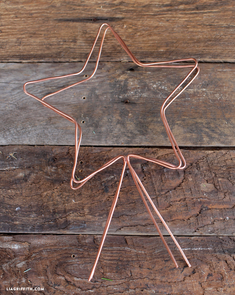 diy copper star