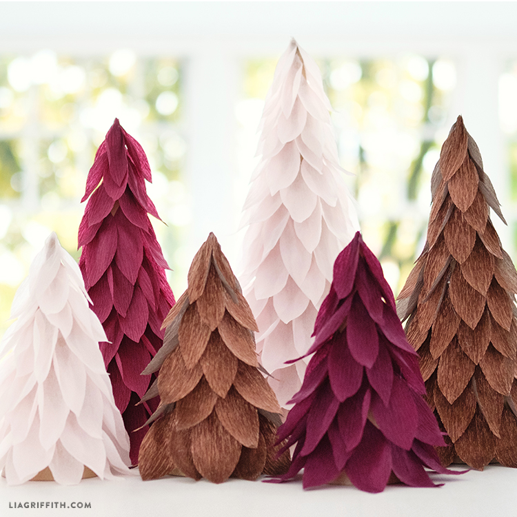 Paper Christmas Tree.Extra Fine Crepe Paper Christmas Tree Decorations Lia Griffith