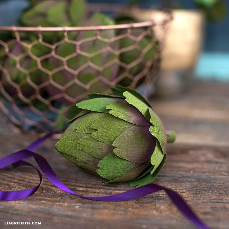 paper artichoke diy