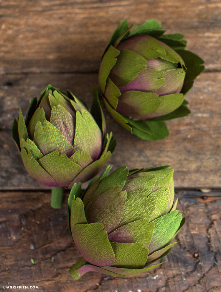 double sided crepe artichokes