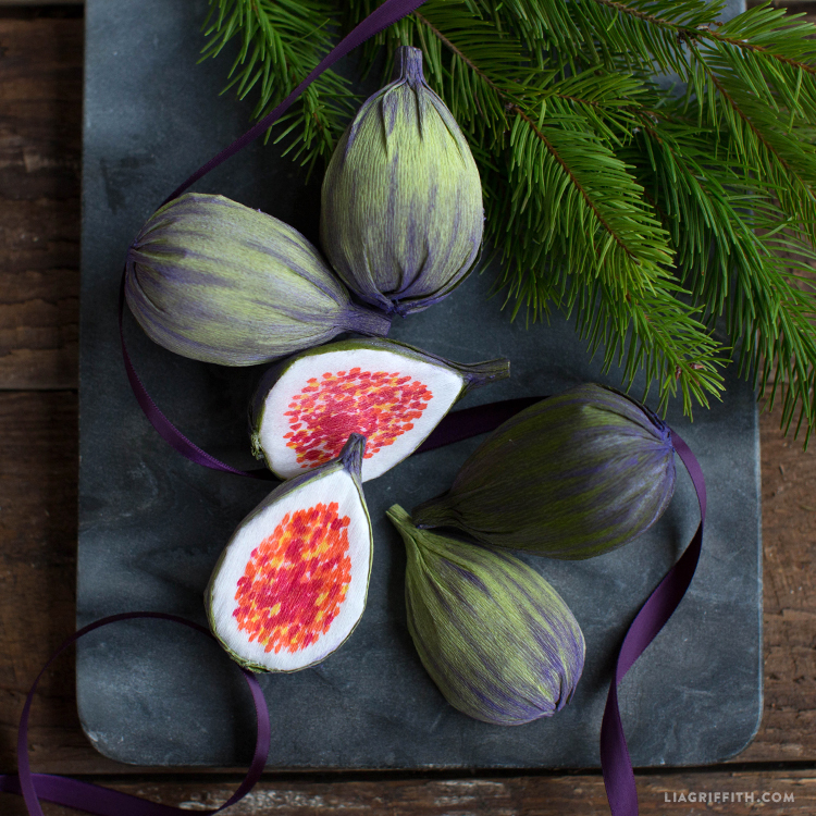 crepe paper figs