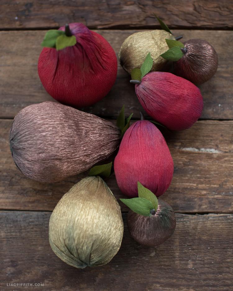 diy paper pears