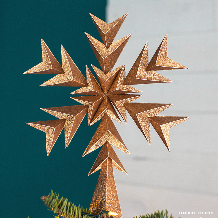 diy geometric tree topper