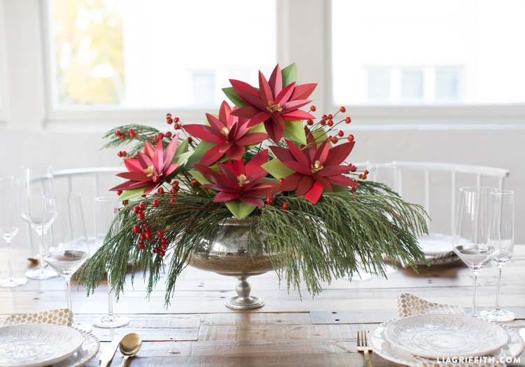 diy paper poinsettias