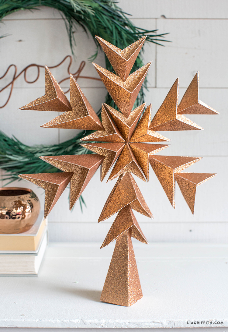 geometric tree topper