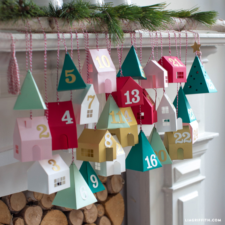 diy advent calendar village