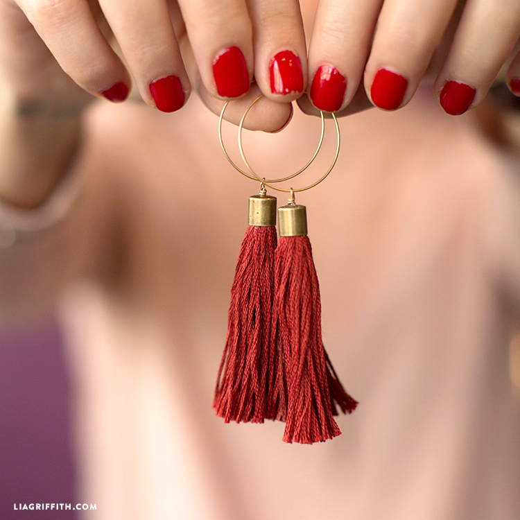Diy Tassel Earrings Lia Griffith
