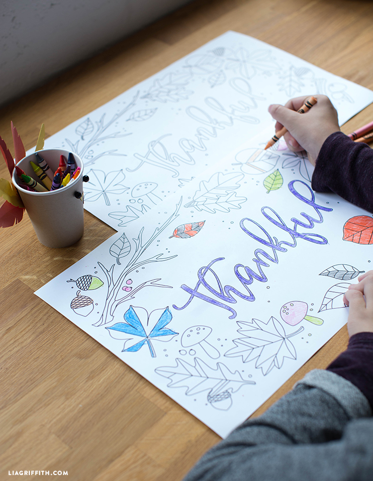 thanksgiving placemat coloring sheets