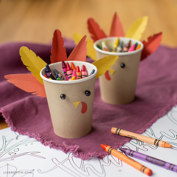 Kids Turkey Crayon Cup Lia Griffith