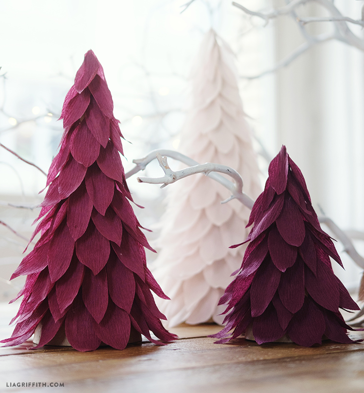 Extra Fine Crepe Paper Christmas Tree Decorations