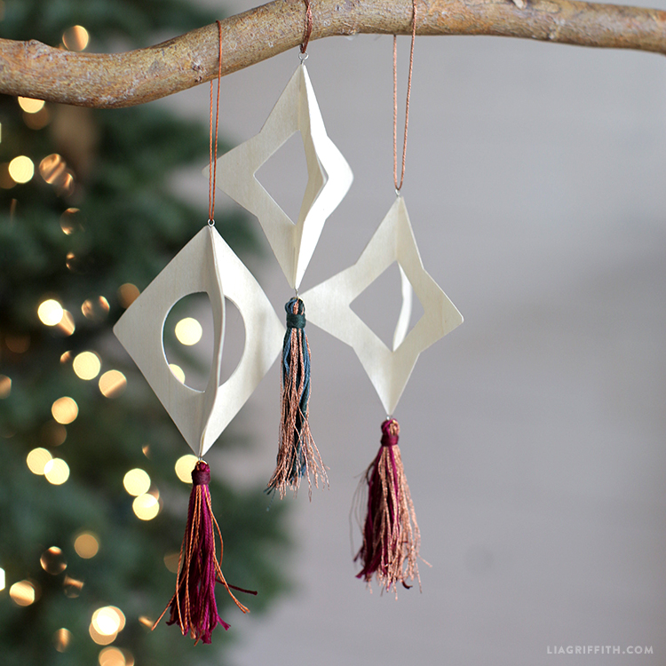 wood tassel ornaments