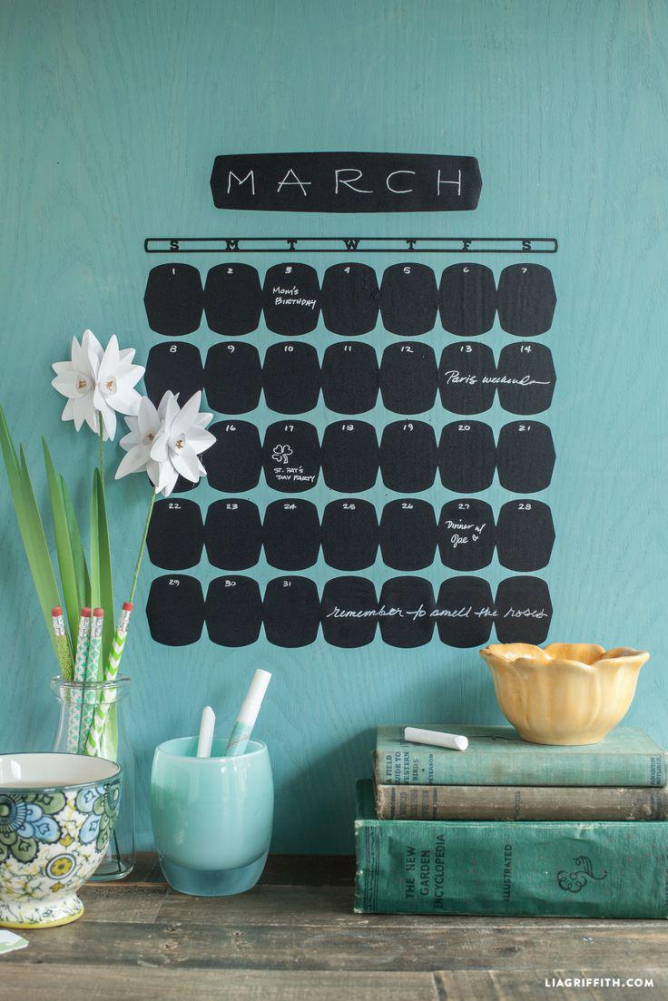 vinyl chalkboard calendar