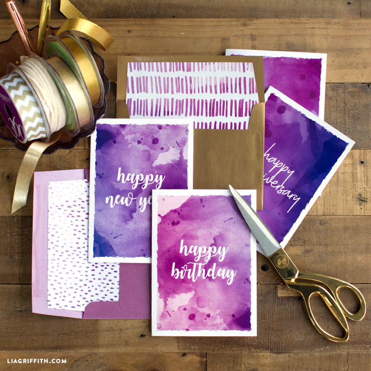 printable ultraviolet cards