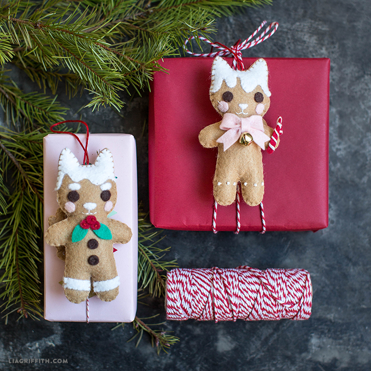 gingerbread animal ornaments