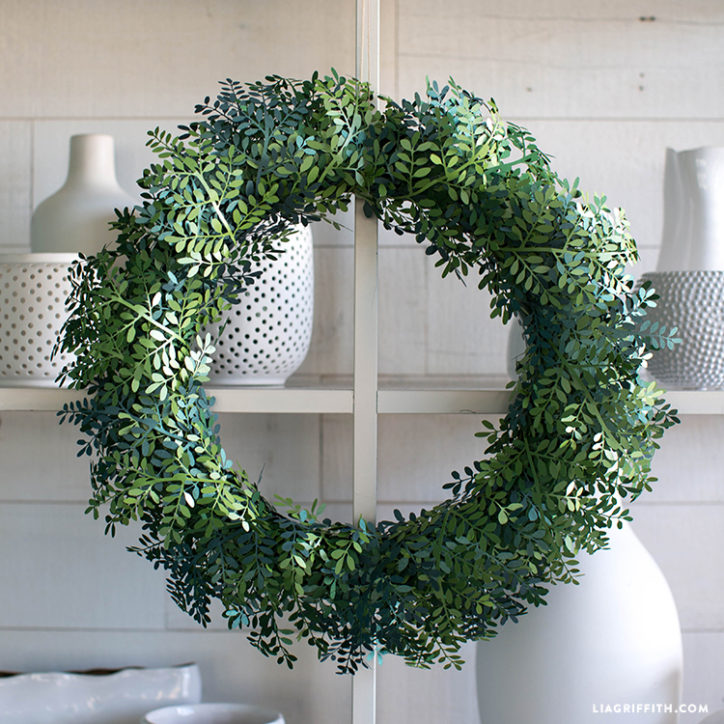 Frosted Papercut Boxwood Wreath