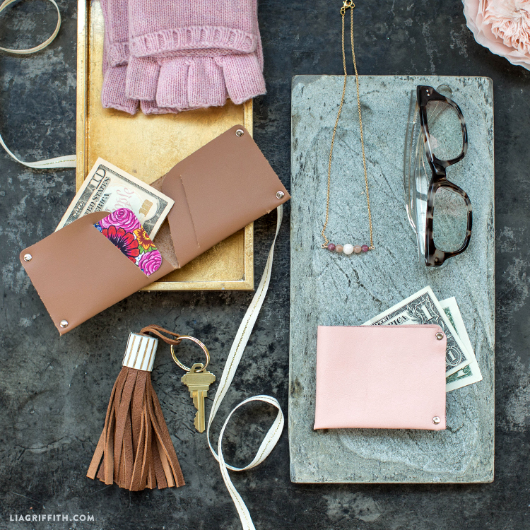 Diy Leather Wallet Lia Griffith