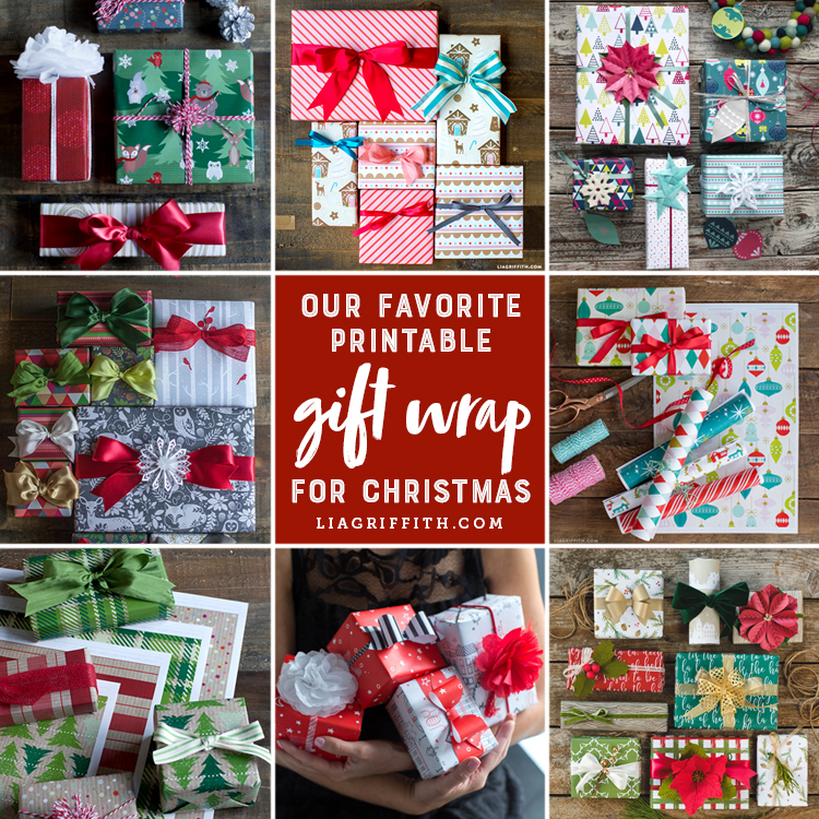 image regarding Printable Gift Wrapper referred to as Down load our Printable Xmas Reward Wraps for Spectacular
