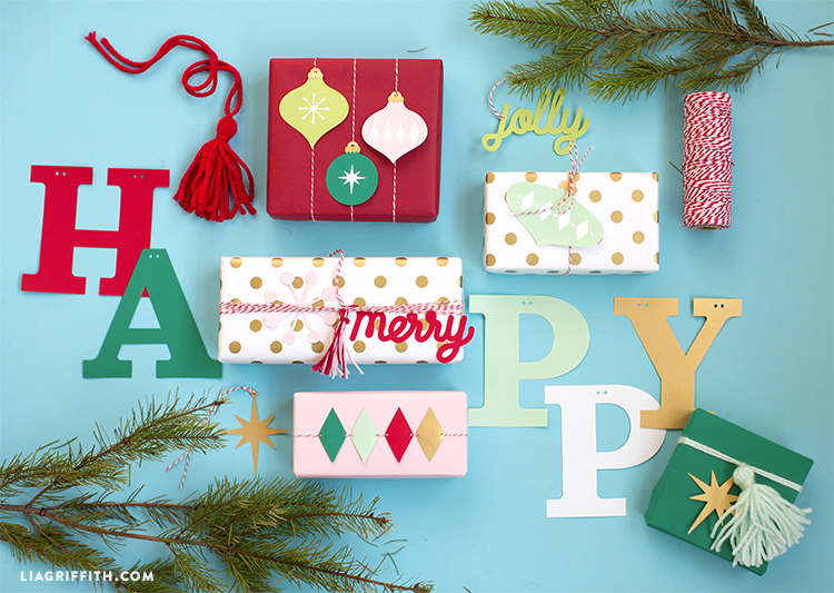 retro paper gift toppers