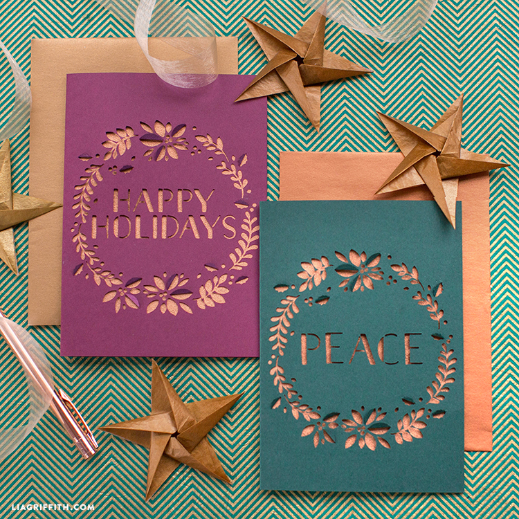 Papercut Christmas Greeting Cards - Lia Griffith
