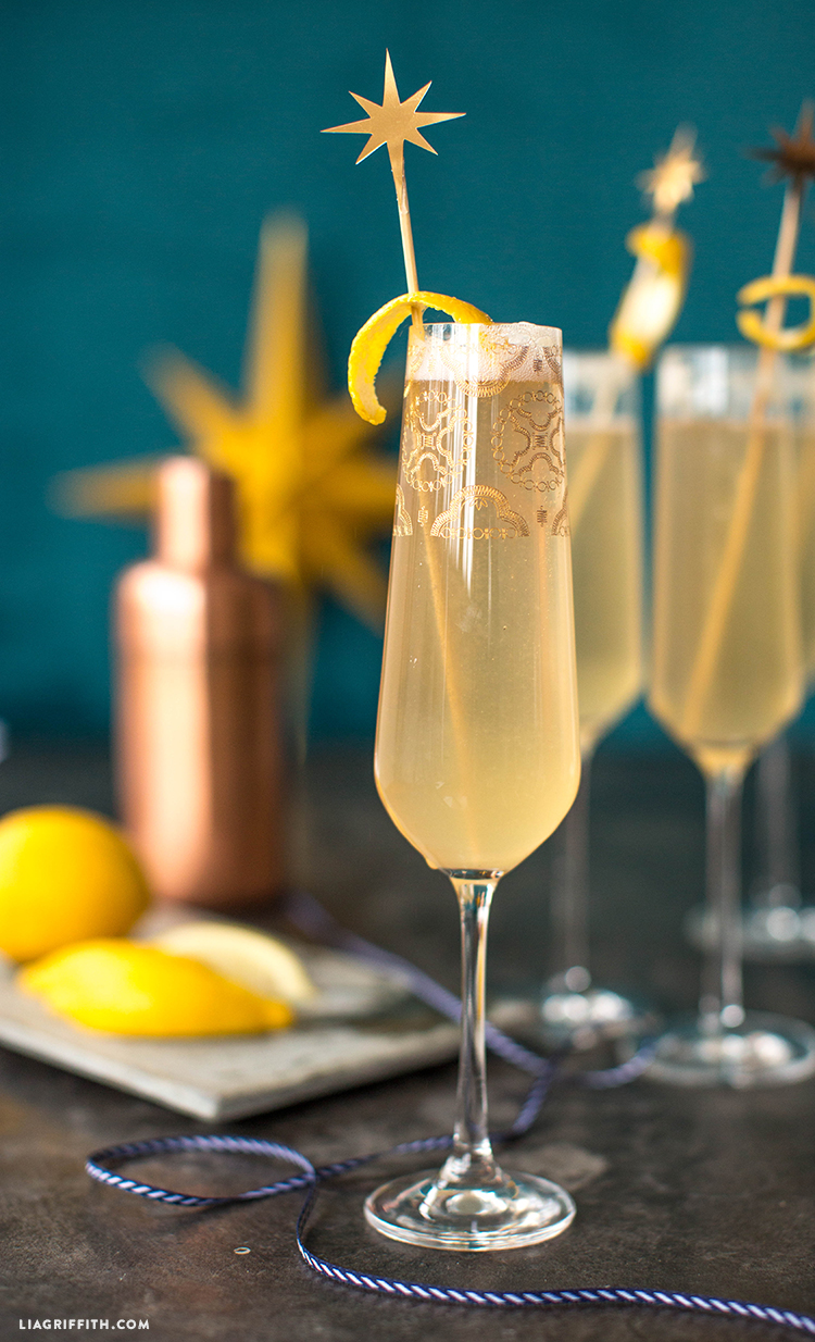 champagne cocktail and stir sticks